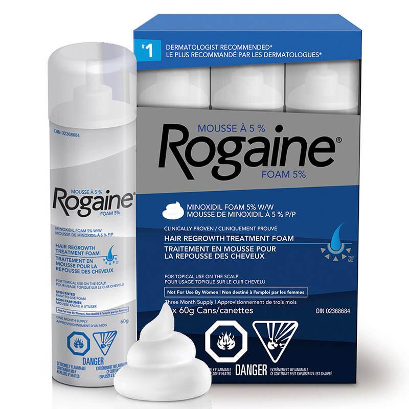 emballage du traitement pour la repousse des cheveux ROGAINE® pour hommes