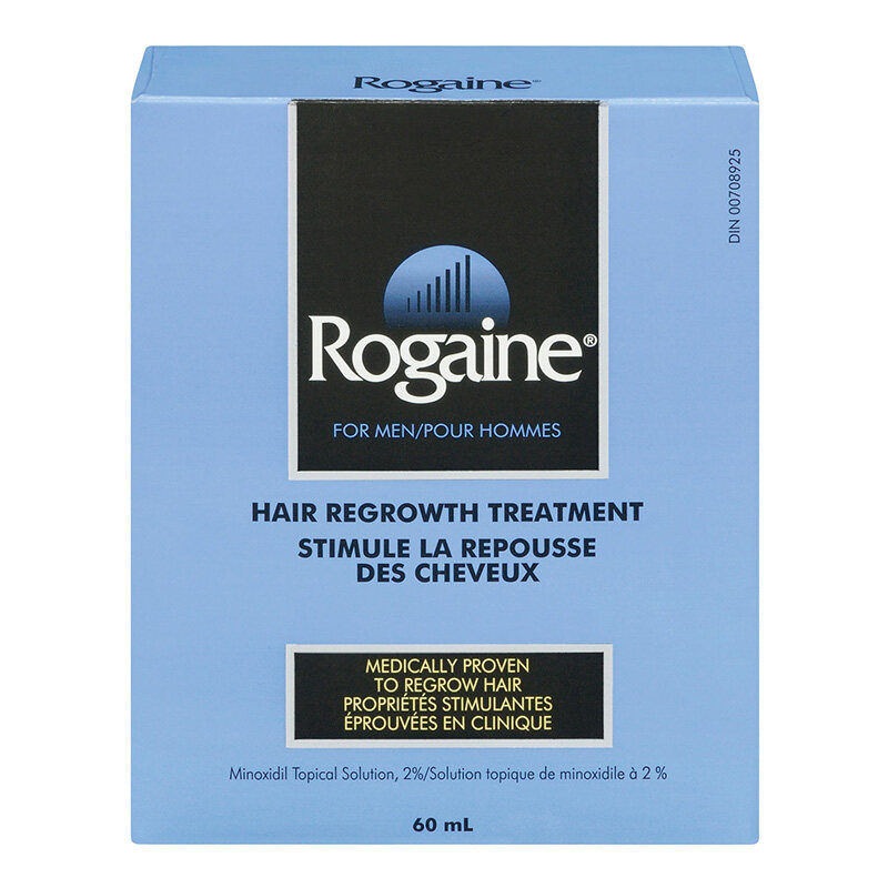 emballage du traitement pour la repousse des cheveux, pour hommes