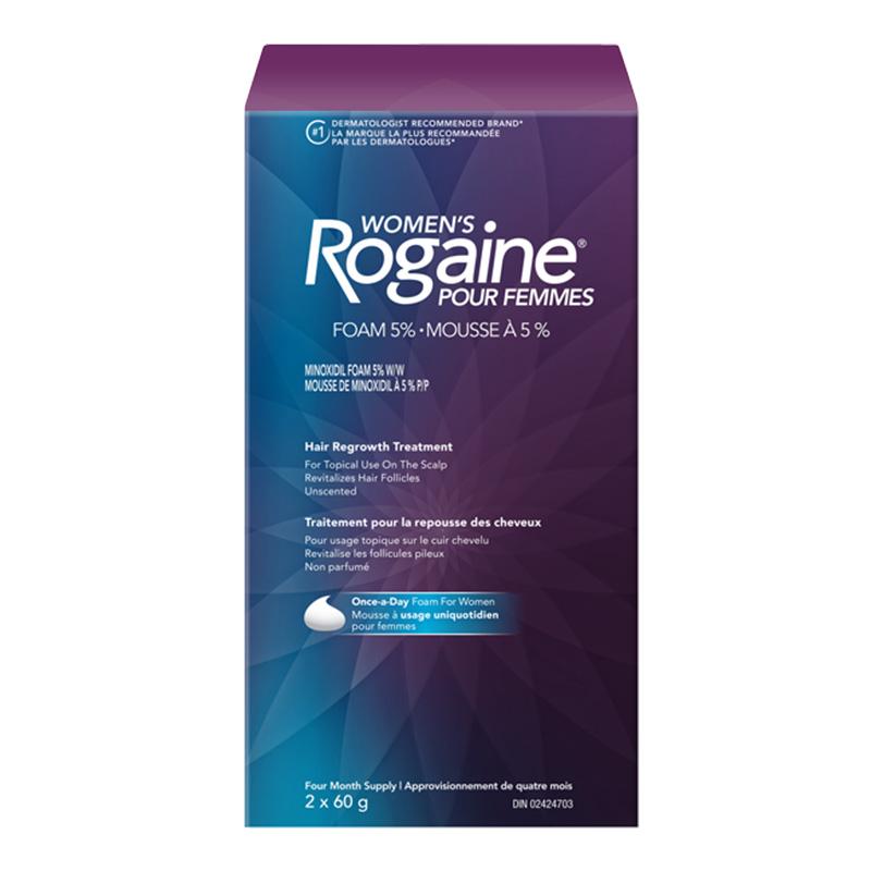 emballage de la mousse de minoxidil pour la repousse des cheveux, pour femmes