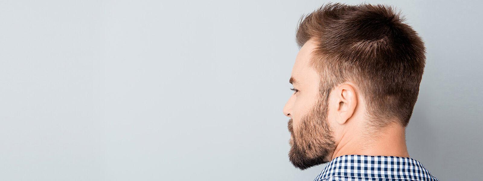 vue de dos de la tête d'un homme