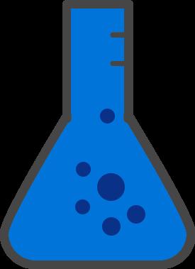 icône d'une fiole de chimie
