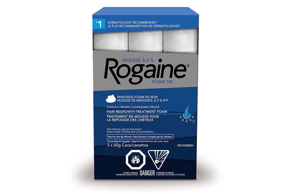 traitement pour la repousse des cheveux ROGAINE® (mousse à 5 % de minoxidil)
