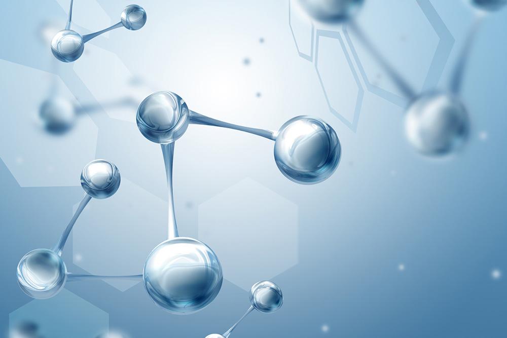 liaison chimique d'une molécule ROGAINE® pour femmes