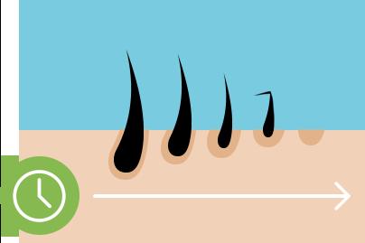 icône de diminution des follicules pileux