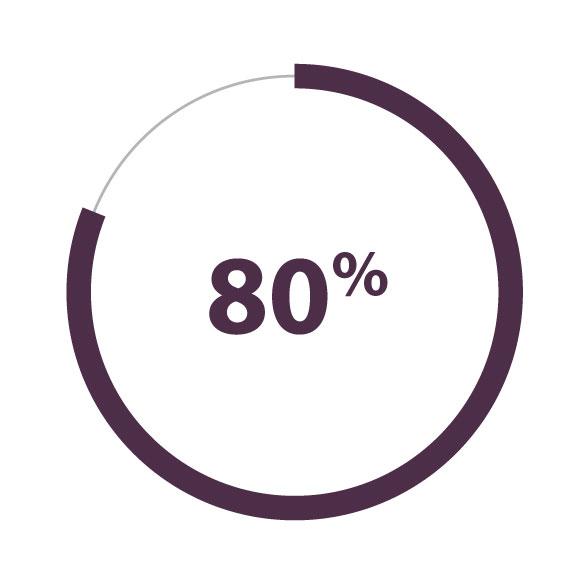 cercle à 80 % complet